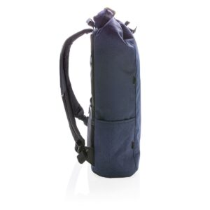 Theft-proof Backpack with Rotary Logo form the side