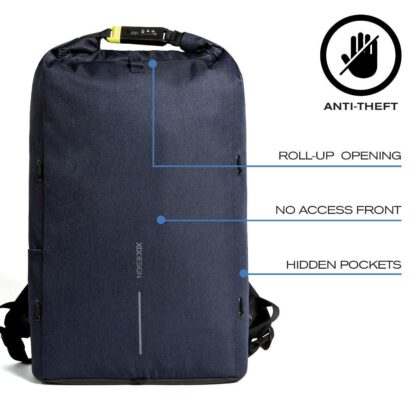Theft-proof Backpack with Rotary Logo and hidden Pockets