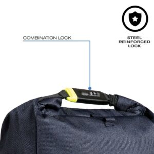 Theft-proof Backpack with Rotary Logo and Steel Reinforced Combination Lock