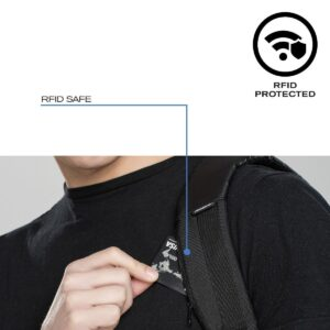 Theft-proof Backpack with Rotary Logo - RFID Protected