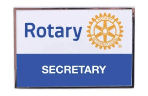 Secretary Rectangular Pin