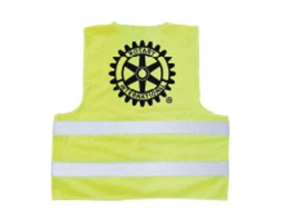Back of Rotary International Reflective Vest